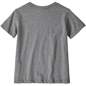 Patagonia Fitz Roy Skies Organic T-Shirt Enfant, gravel heather